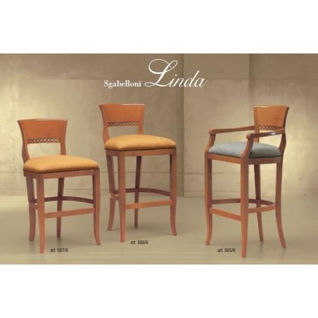 Morello Gianpaolo Red catalogue барные стулья - Фото 5
