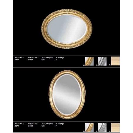Euromobilit Зеркала круглые и овальные классика - Фото 11